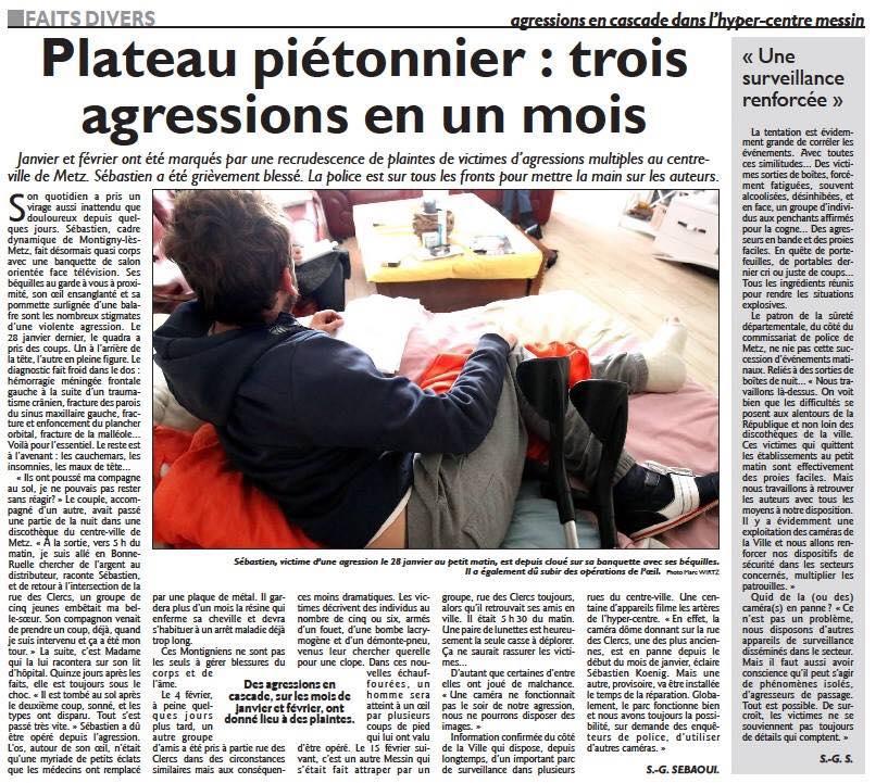 Communiqué de presse – Problèmes d'insécurité à Metz