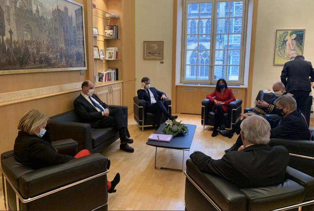 Visite de MM. les Ministres Castex et Véran à Metz
